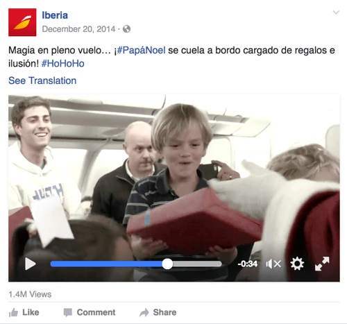 This video campaign by Iberia Airlines connects through the emotion of the holidays.