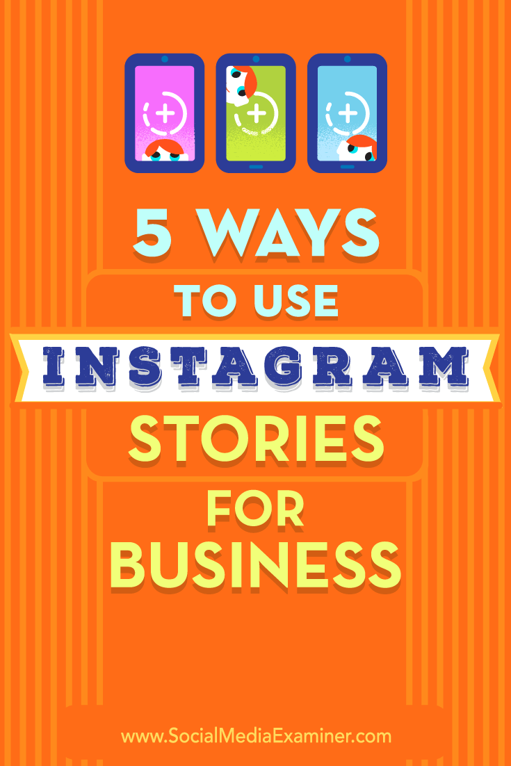 5 Ways to Use Instagram Stories for Business by Matt Secrist on Social Media Examiner.