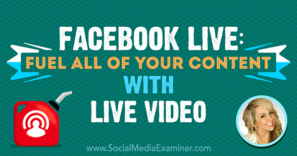 Facebook Live: Fuel All of Your Content With Live Video featuring insights from Chalene Johnson on the Social Media Marketing Podcast.
