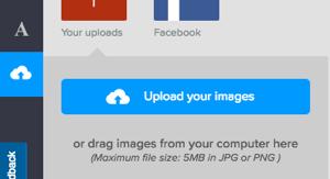 Upload a background image in DesignBold.