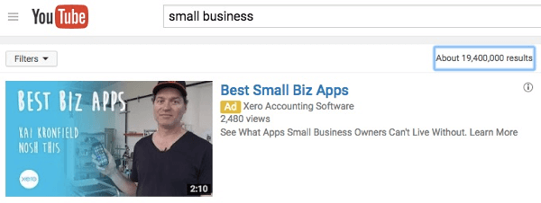 This is what your ad will look like in YouTube search.