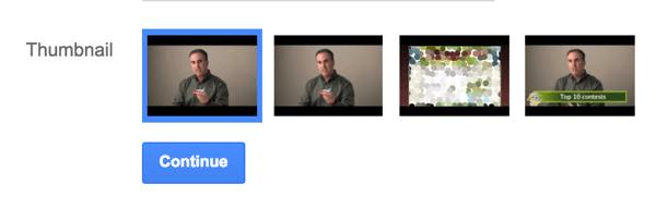 Wählen Sie eine Miniaturansicht für Ihre YouTube-Anzeige aus.