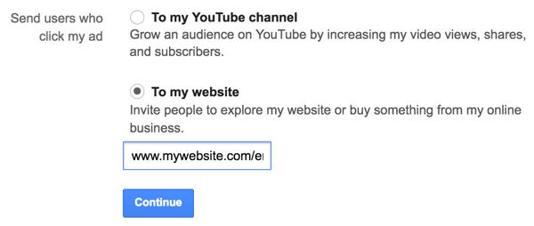 Geben Sie die URL für Ihre E-Mail-Anmeldeseite ein.