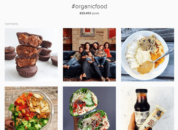 Find relevant posts with a specific hashtag on Instagram or Twitter.