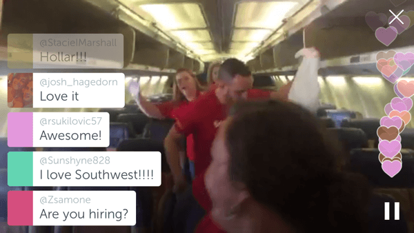 In this Periscope broadcast, Southwest's Culture Committee shows how the company keeps their planes clean.