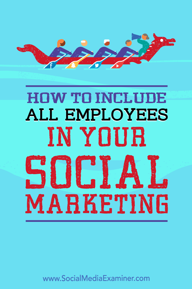 How to Include All Employees in Your Social Media Marketing by Ann Smarty on Social Media Examiner.