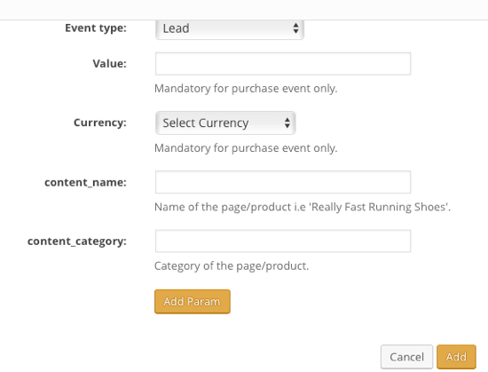 Use additional parameters if you're tracking multiple pages under the same event type.