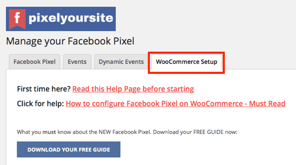 The PixelYourSite plugin's WooCommerce integration lets you set up ecommerce events for your store.