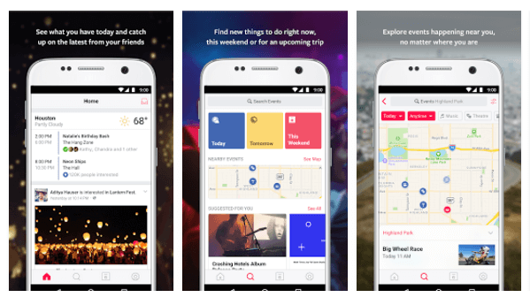 Facebook's standalone Events from Facebook app, which was introduced on iOS earlier this year, has been released to Android.