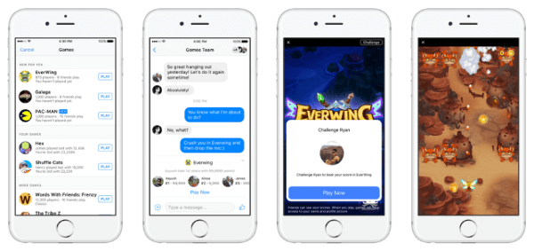 Facebook launched Instant Games, a new HTML5 cross-platform gaming experience, on Messenger and Facebook News Feed for both mobile and Web.