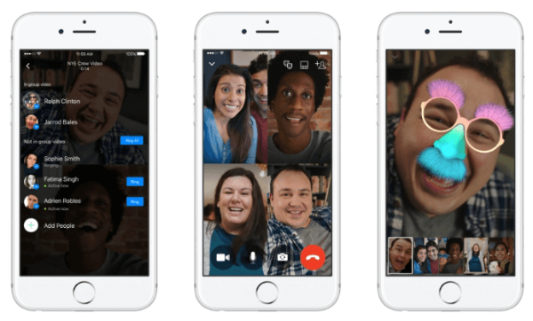 Facebook Messenger rolls out group video chat feature on Android, iOS and the Web.