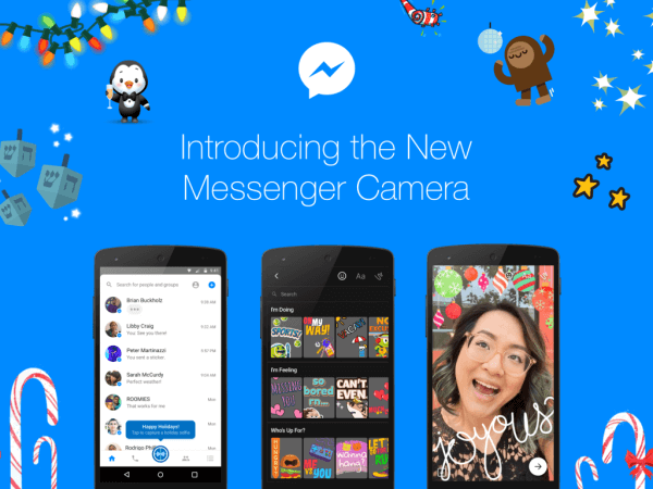 Facebook announced the global launch of a new powerful native camera in Messenger.