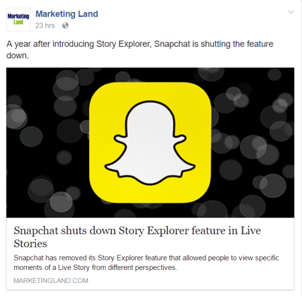 Snapchat shuts down Story Explorer feature in Live Stories.