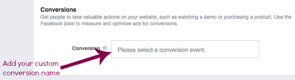 Type in the name of the conversion you want to achieve.