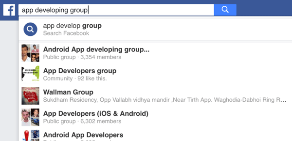 Facebook has groups for practically every niche.