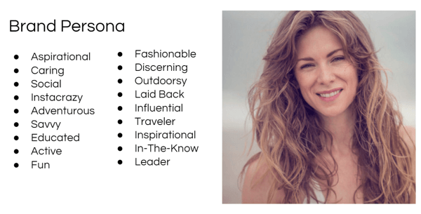 Create a brand persona that will serve as your foundational persona.