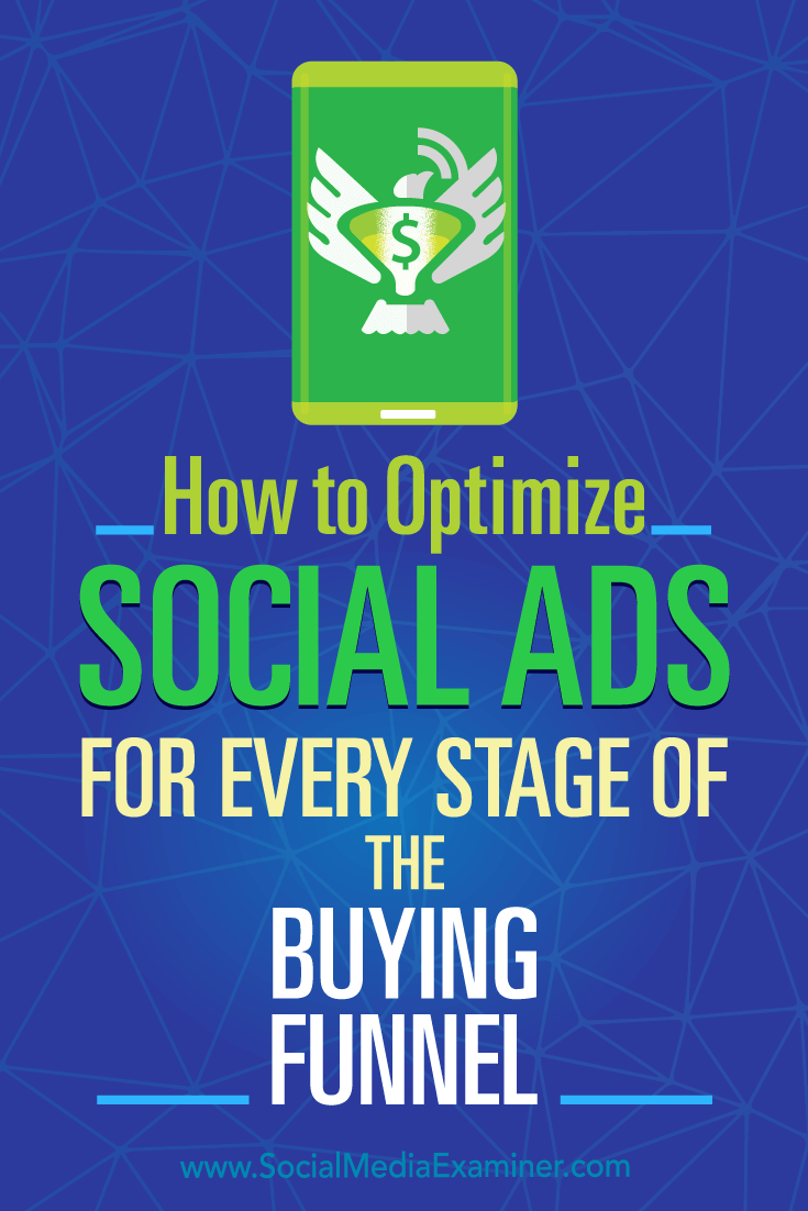 How to Optimize Social Ads for Every Stage of the Buying Funnel by Marcela de Vivo on Social Media Examiner.
