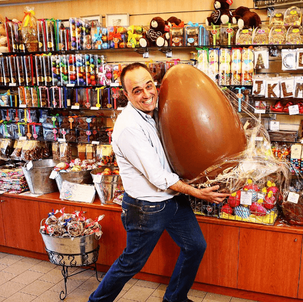 John Kapos created a Snapchat, inspired by a large chocolate Easter egg.