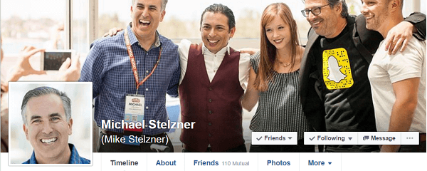 Michael Stelzner joined Facebook at the recommendation of MarketingProf's Ann Handley.