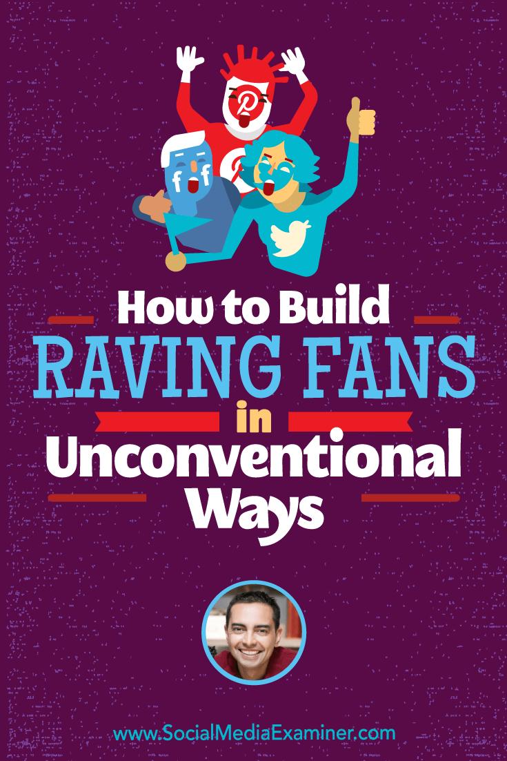 Wie man auf unkonventionelle Weise begeisterte Fans aufbaut und Einblicke von Pat Flynn in den Social Media Marketing Podcast bietet.