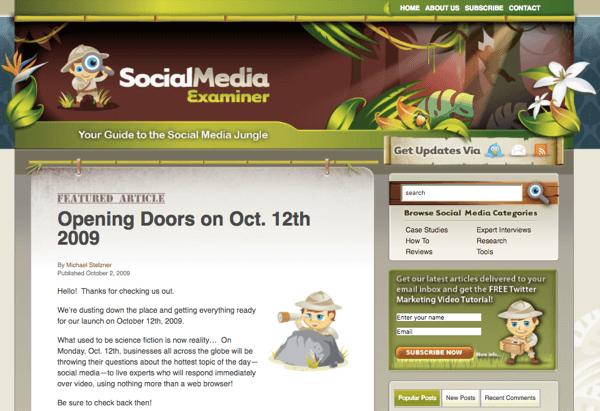 SocialMediaExaminer.com in October 2012.