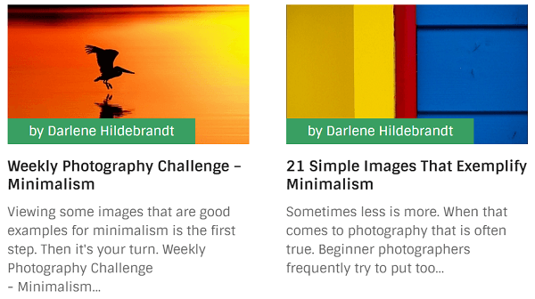 Digital Photography School offers challengers to readers in their posts.