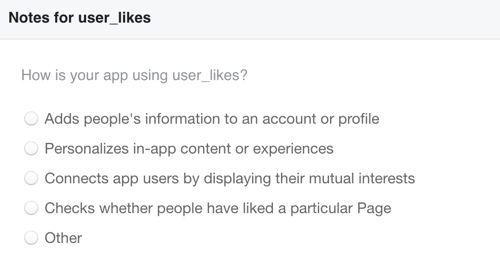 Explain how you'll use the Facebook likes data you collect.