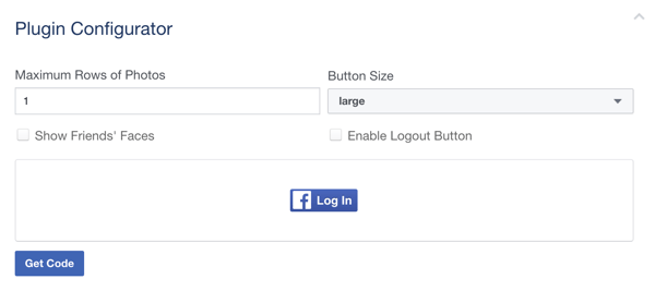 Customize your Facebook Login button.