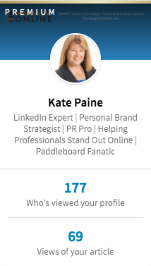 View a snapshot of your LinkedIn profile when you log into the newest version of LinkedIn.