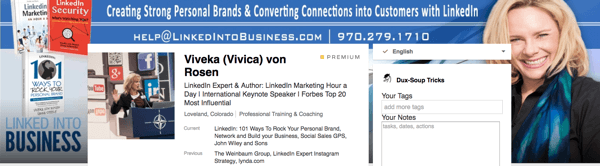 Check that your LinkedIn background image matches the rest of your branding.