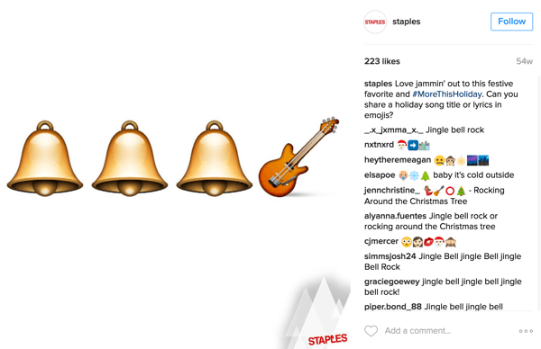 Emojis are very popular on Instagram.