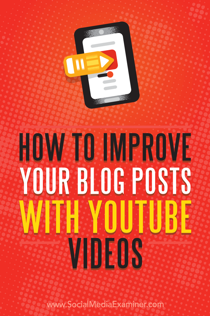 How To Improve Your Blog Posts With Youtube Videos By Ana Gotter On Social  Media Examiner