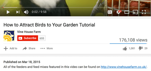 Since YouTube may be a user's first touchpoint, always place a link to your site in your description.