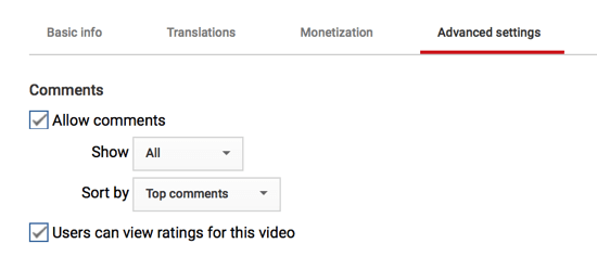 You can also customize how comments will appear on your YouTube channel if you do choose to allow them.