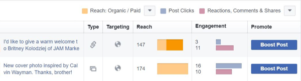 See all of your Facebook posts and filter them based on your needs.