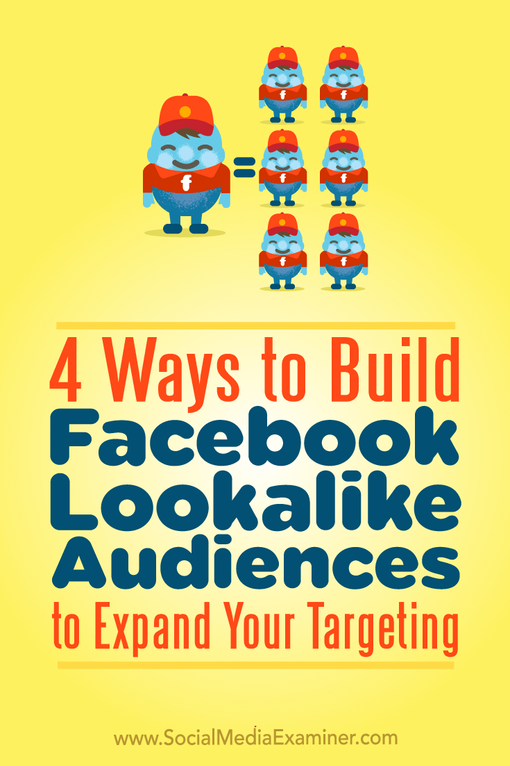 4 Ways to Build Facebook Lookalike Audiences to Expand Your Targeting by Charlie Lawrance on Social Media Examiner.