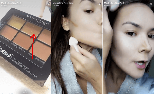 A Snapchat tutorial can feature an influencer who also answers questions about your products.