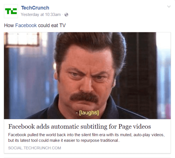 Facebook extends automated video captioning to U.S. Facebook Pages in English.