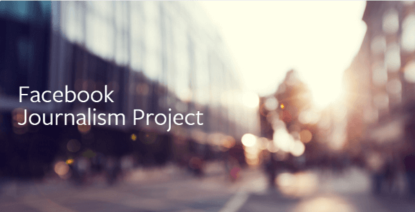 The Facebook Journalism Project Page will serve as a hub for its efforts to promote and support journalism on Facebook and where it will continue to update the public on these initiatives.