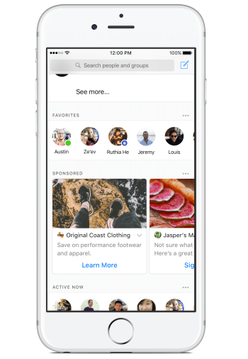 Facebook is testing ads in the Messenger app.