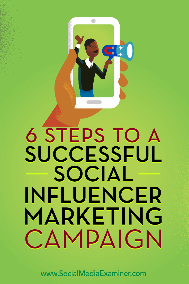 6 Steps to a Successful Social Influencer Marketing Campaign by Juliet Carnoy on Social Media Examiner.