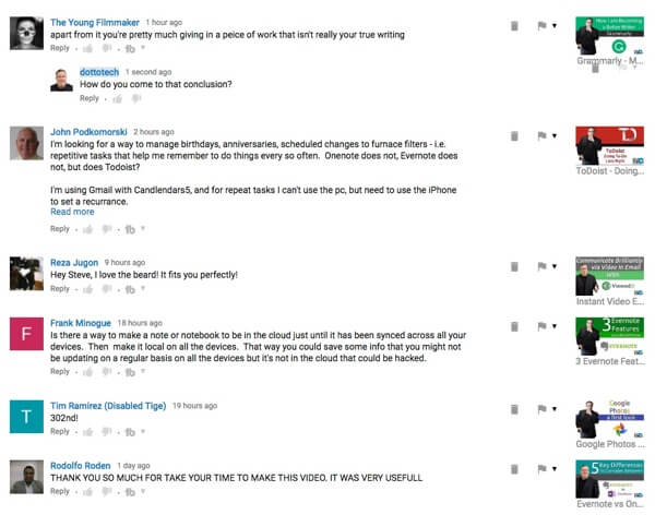 YouTube's new comment features allow for a more dynamic conversation thread on videos.