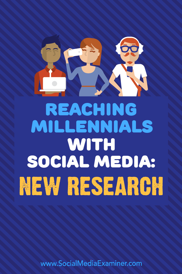 Reaching Millennials With Social Media: New Research by Michelle Krasniak on Social Media Examiner.