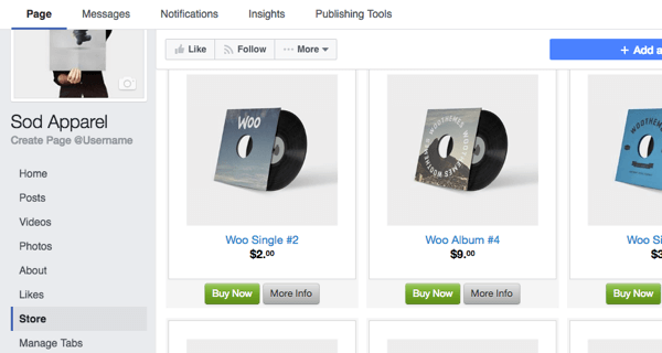 Browse your new Facebook store to see if everything was imported correctly.