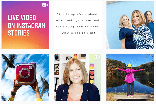 Keep your content consistent and frive people to your feed through your Instagram Stories.