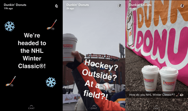 Incorporate storytelling techniques in your Snapchat stories.
