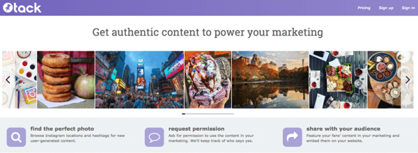 Tack helps businesses collect user-generated content easily and lawfully.