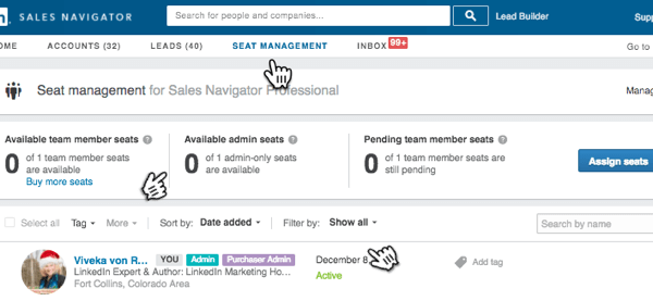 Enterprise accounts that use Team Link get access to the Seat Management function.