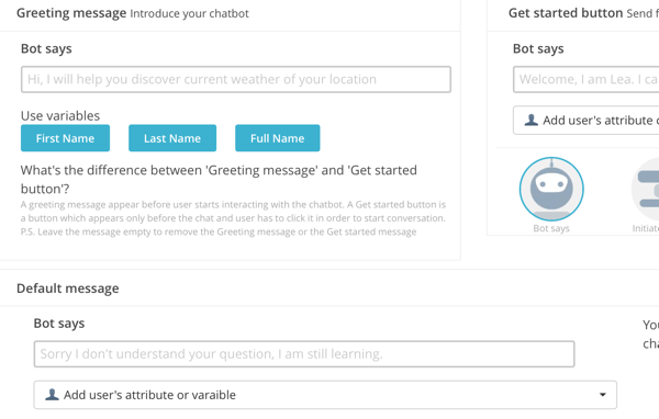 Botsify has a user-friendly interface.