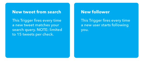 Choose New Tweet From Search for your IFTTT applet's trigger.